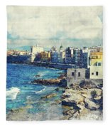 Trapani Art 19 Sicily Fleece Blanket