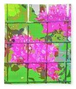 Trapped Flowers Fleece Blanket