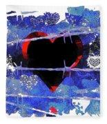 Trapped Heart Fleece Blanket