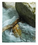 Trapped River Log Fleece Blanket