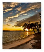 Trapped Sunset Fleece Blanket