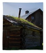 Trappers Cabin Clydesdale Barn Fleece Blanket