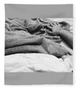 Travel In Stillness Fleece Blanket