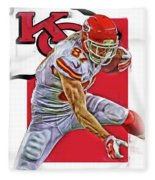 Travis Kelce Kansas City Chiefs Oil Art Fleece Blanket