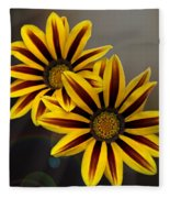 Treasure Flowers With Light Flares Fleece Blanket