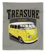Treasure Hunt Bus Fleece Blanket