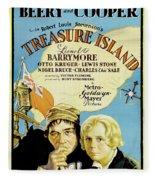 Treasure Island 1934 Fleece Blanket