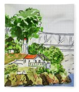 Treasure Island - California Sketchbook Project  Fleece Blanket