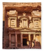Treasury Of Petra In Color Fleece Blanket
