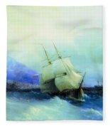 Trebizond From The Sea 1875 61h94 Ivan Konstantinovich Aivazovsky Fleece Blanket