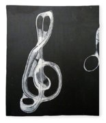 Treble Clef Fleece Blanket