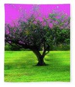 Tree And Color Fleece Blanket