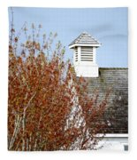 Tree And School House 795 Fleece Blanket