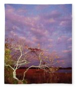 Tree And Sky At Cape May Point State Park  Nj Fleece Blanket