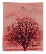 Tree Art 01 Fleece Blanket