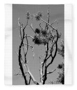 Tree Art Black And White 031015 Fleece Blanket