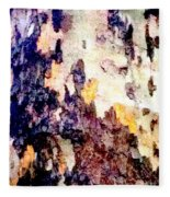 Tree Bark 2 Fleece Blanket