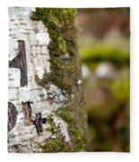 Tree Bark Graffiti - H 04 Fleece Blanket