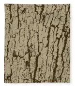 Tree Bark Texture Brown Fleece Blanket