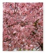 Tree Blossoms Pink Blossoms Art Prints Giclee Flower Landscape Artwork Fleece Blanket