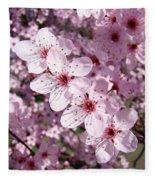 Tree Blossoms Pink Spring Flowering Trees Baslee Troutman Fleece Blanket
