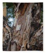 Tree Branch Texture 3 Fleece Blanket