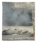 Tree By The Thermal - Yellowstone Fleece Blanket