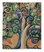 Tree Candy Fleece Blanket