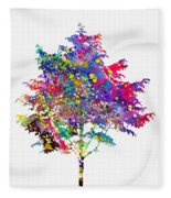 Tree-colorful Fleece Blanket