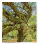 Tree For The Ages Fleece Blanket