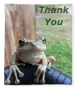 Tree Frog Thank You Fleece Blanket