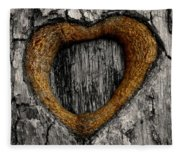 Tree Graffiti Heart Fleece Blanket
