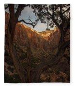 Tree Heart Fleece Blanket