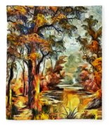 Tree Impression Fleece Blanket