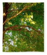 Tree In Late Summer Fleece Blanket