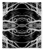 Tree Kaleidescope  Fleece Blanket