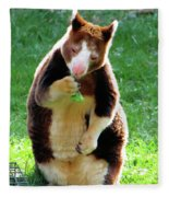 Tree Kangaroo Fleece Blanket