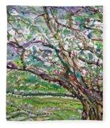 Tree, Loom Of Light And Life Fleece Blanket
