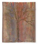 Tree - Metallic 1 Fleece Blanket