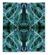 Tree Moss Mandala Fleece Blanket