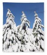 Tree-o Of Evergreens Fleece Blanket
