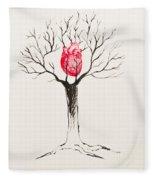 Tree Of Hearts Fleece Blanket