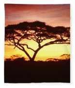 Tree Of Life Africa Fleece Blanket