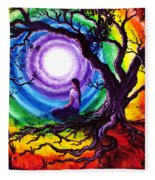 Tree Of Life Meditation Fleece Blanket