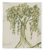 Tree On A Hill Fleece Blanket