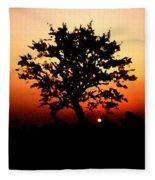 Tree On Fire Fleece Blanket