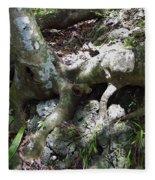Tree Roots On The Bank Fleece Blanket