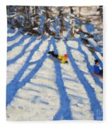Tree Shadows Morzine Fleece Blanket