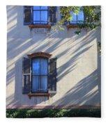 Tree Shadows On Savannah House Fleece Blanket
