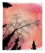Tree Silhouettes I Fleece Blanket